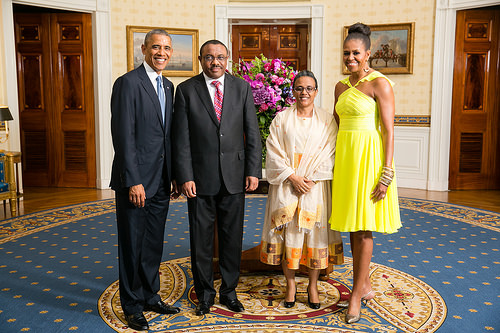 obama with hailemamriam